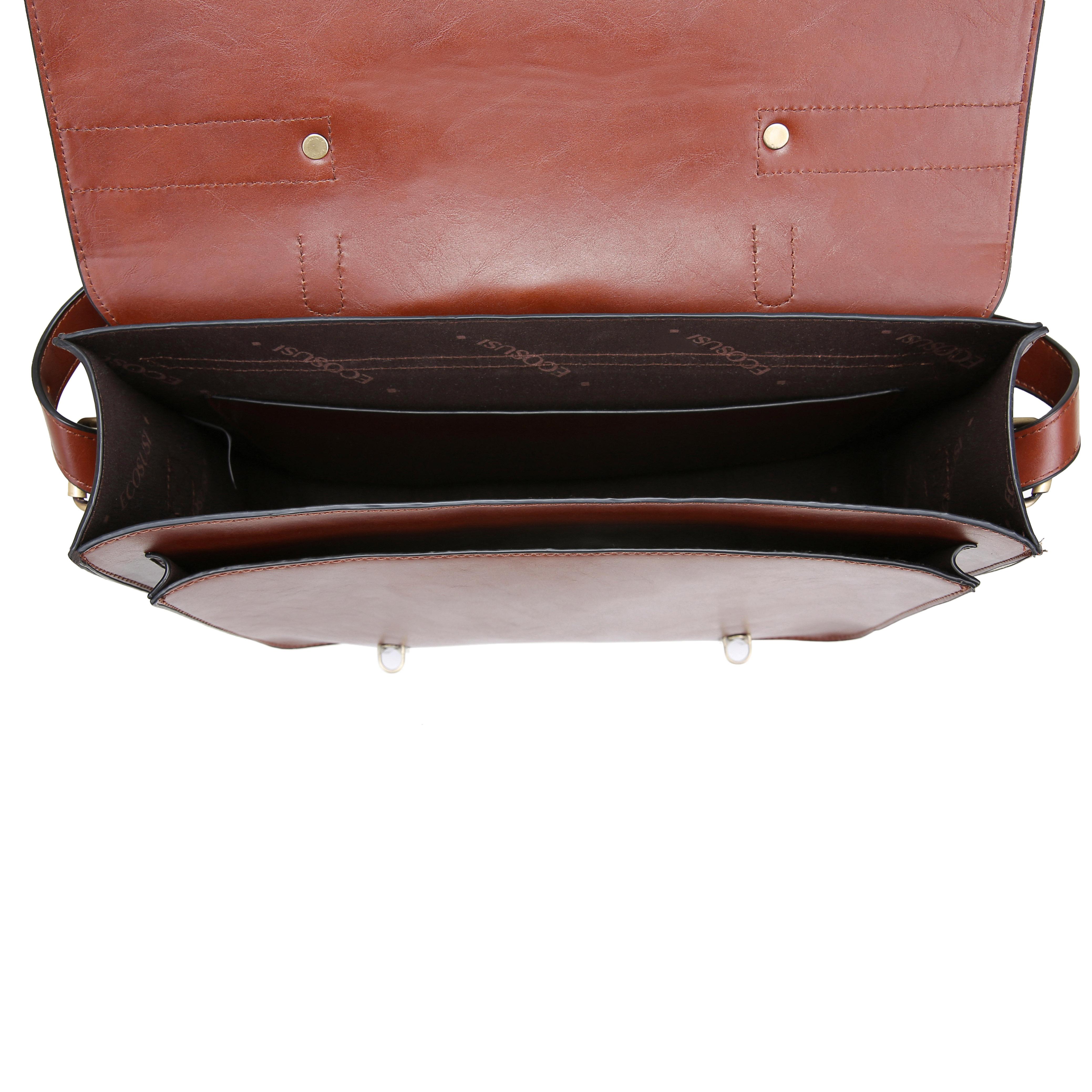 7039fdfcb8ef Женская сумка-портфель Ecosusi коричневая (ES0120954A057) - BuyClub ...